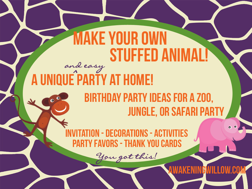 Make Your Own Stuffed Animals Birthday Party Decorations – Build a Bear Invitations Birthday